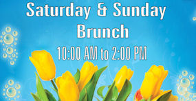 Brunch - Saturday and Sunday